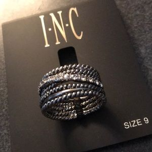 NEW INC pave ring w/bling size 9